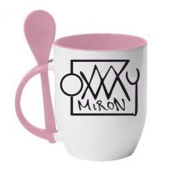 Кружка с керамической ложкой OXXXY Miron - FatLine