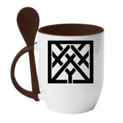 Кружка с керамической ложкой Oxxxymiron - FatLine