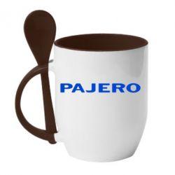 Кружка с керамической ложкой PAJERO - FatLine