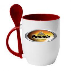 Кружка с керамической ложкой Pinnacle Fishing - FatLine