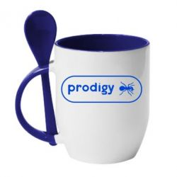 Кружка с керамической ложкой Prodigy Logo - FatLine