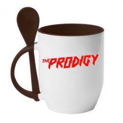 Кружка с керамической ложкой Prodigy - FatLine