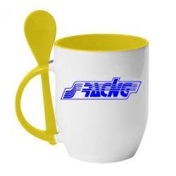 Кружка с керамической ложкой Racing - FatLine