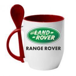 Кружка с керамической ложкой Range Rover - FatLine