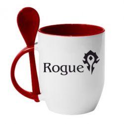 Кружка с керамической ложкой Rogue Орда - FatLine