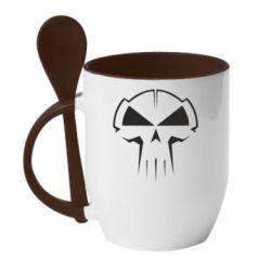 Кружка с керамической ложкой rotterdam terror corps - FatLine