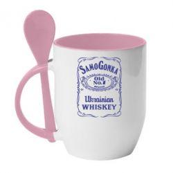 Кружка с керамической ложкой SamoGonka (Jack Daniel's) - FatLine
