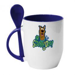 Кружка с керамической ложкой Scooby Doo! - FatLine