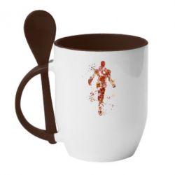 Кружка с керамической ложкой Старк - FatLine