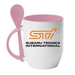Кружка с керамической ложкой STI - FatLine