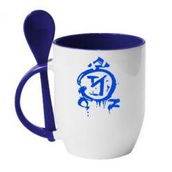 Кружка с керамической ложкой Сверхъестественное логотип - FatLine