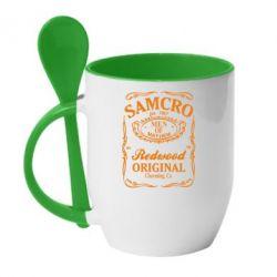 Кружка з керамічною ложкою Сини Анархії Samcro - FatLine