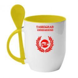 Кружка с керамической ложкой Tankograd Underground - FatLine