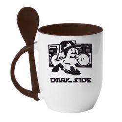 Кружка с керамической ложкой Темная сторона Star Wars - FatLine