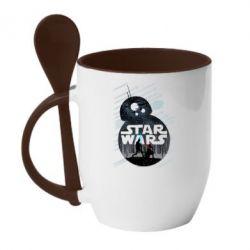 Кружка с керамической ложкой The Force - FatLine