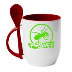 Кружка с керамической ложкой The Prodigy муравей - FatLine