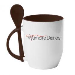 Кружка с керамической ложкой The Vampire Diaries Small - FatLine