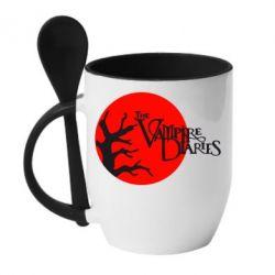 Кружка с керамической ложкой The Vampire Diaries - FatLine