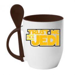 Кружка с керамической ложкой Trust me, I'm a Jedi - FatLine