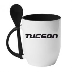 Кружка с керамической ложкой Tucson - FatLine