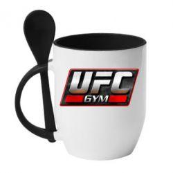 Кружка с керамической ложкой UFC GyM - FatLine