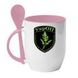 Кружка с керамической ложкой Український оперативний підрозділ - FatLine