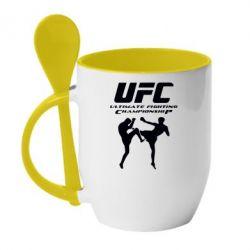 Кружка с керамической ложкой Ultimate Fighting Championship - FatLine