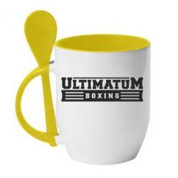 Кружка с керамической ложкой Ultimatum Boxing - FatLine