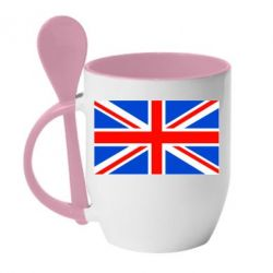 Кружка с керамической ложкой Великобритания - FatLine