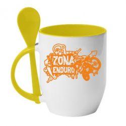 Кружка с керамической ложкой Zona Enduro - FatLine