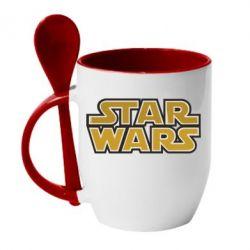 Кружка с керамической ложкой Звездные войны - FatLine