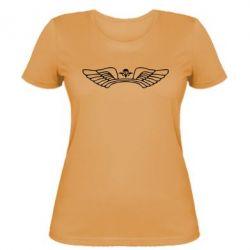 Женская футболка Крылья десанта - FatLine
