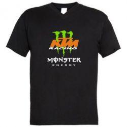 Мужская футболка  с V-образным вырезом KTM Monster Enegry - FatLine