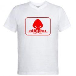 Мужская футболка  с V-образным вырезом Ктулху - FatLine