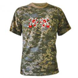 Камуфляжная футболка Квітковий орнамент - FatLine