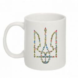 Кружка 320ml Квітучий герб України - FatLine