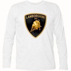 Футболка с длинным рукавом Lamborghini Logo - FatLine