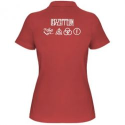 Женская футболка поло Led-Zeppelin Logo