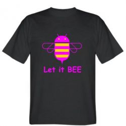 Мужская футболка Let it BEE Android - FatLine