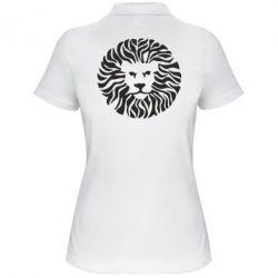 Женская футболка поло лев - FatLine