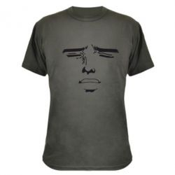 Камуфляжная футболка Лицо аниме - FatLine