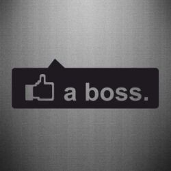 Наклейка Like a boss - FatLine