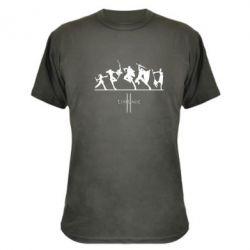 Камуфляжная футболка Lineage fight - FatLine