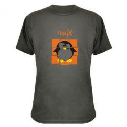 Камуфляжная футболка Linux pinguine - FatLine