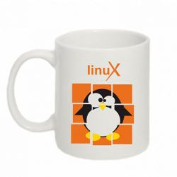 Кружка 320ml Linux pinguine