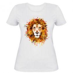 Женская футболка Lion Art - FatLine