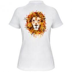 Женская футболка поло Lion Art - FatLine