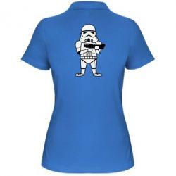 Женская футболка поло Little Stormtrooper - FatLine