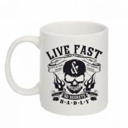 Кружка 320ml Live Fast - FatLine