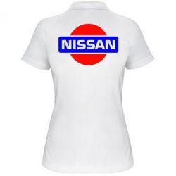 Женская футболка поло Logo Nissan - FatLine